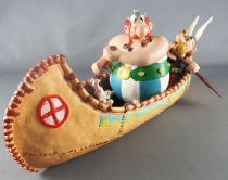 Asterix - Atlas Plastoy - Figurine Résine - Le canoe d\'Asterix & Obélix (Exclusive)