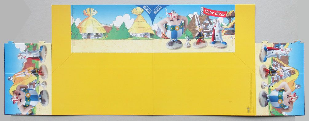 Asterix - Atlas Plastoy - Resine figures - Cardboard Diorama The Village