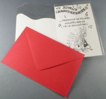 Asterix - Birthday Card with Enveloppe - Cacofonix Mint in Package
