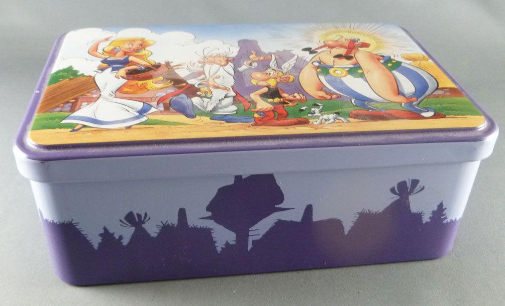 Asterix - Boite à gâteaux rectangulaire Delacre - Asterix Obelix Panoramix & Falbala