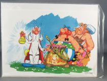Asterix - Carte Dargaud Exclusive Noel 1976 & Enveloppe - La Potion Magique