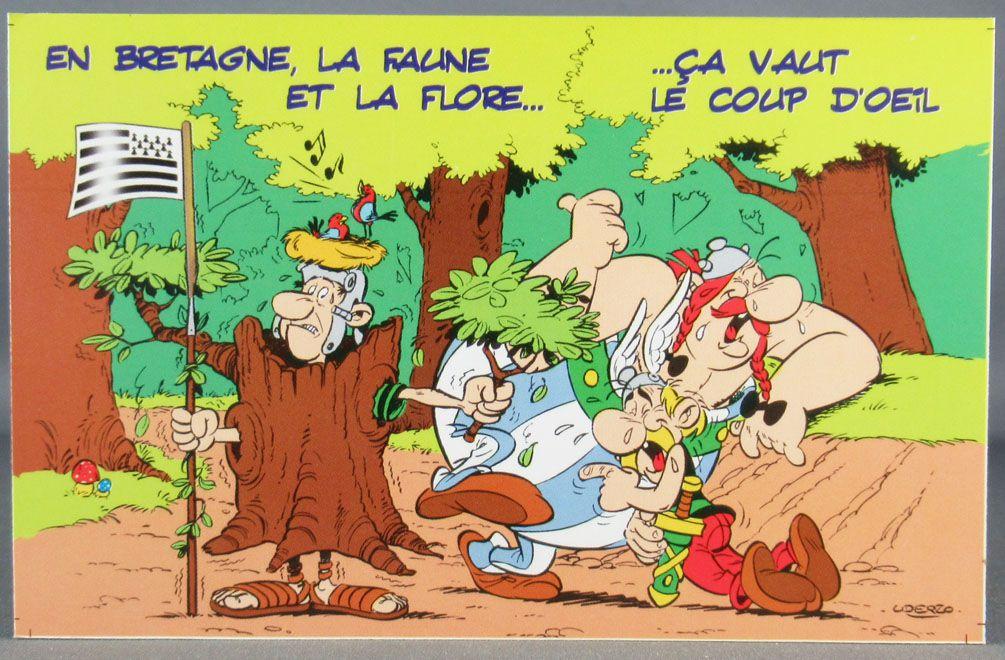 Asterix - Carte Postale Editions d\'Art Albert René Goscinny Uderzo 2002 - HM202 En Bretagne la Faune...