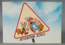 Asterix - Carte Postale Franceco Albert René Goscinny Uderzo1984 - Attention école !