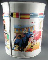 Asterix - Corbeille à papier ronde Pierre Henry - Asterix & Obelix autour du monde