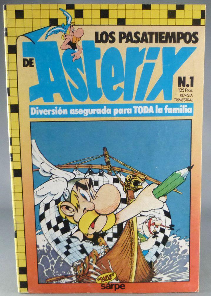 Asterix - Crossed Words Los Pasatiempos de Asterix N°1 1985 - Mint Condition