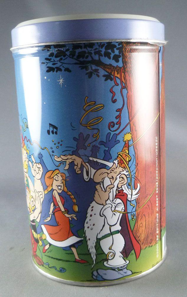 Asterix - Delacre Tin Cookie Box (Rond Tube) - The Night Party