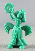 Asterix - Dupont d\'Isigny 1969 - Figurine Monochrome - Danseuse égyptienne Bras levé vers la droite (Vert)