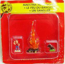 Asterix - Editions ATLAS - Le Village - n°24 : Maestria + le feu du banquet + un sanglier