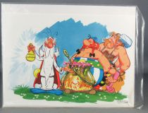 Asterix - Exclusive Christmass 1976 Dargaud Card with Enveloppe - The Magic Potion