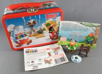 Asterix - Kinder Suprise Ferrero 2003 - Majestix Figure + Metal Mini Lunchbox + Flyer