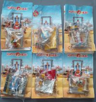 Asterix - McDonald\'s 2002 - Cleopatra Mission - Complete Premium set of 6 Mint in Package Characters)