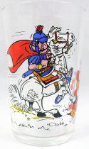 Asterix - Mustard glass Amora 1968 - Asterix and a roman horseman