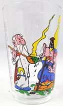 Asterix - Mustard glass Amora 1968 - Obelix trying to have magic potion