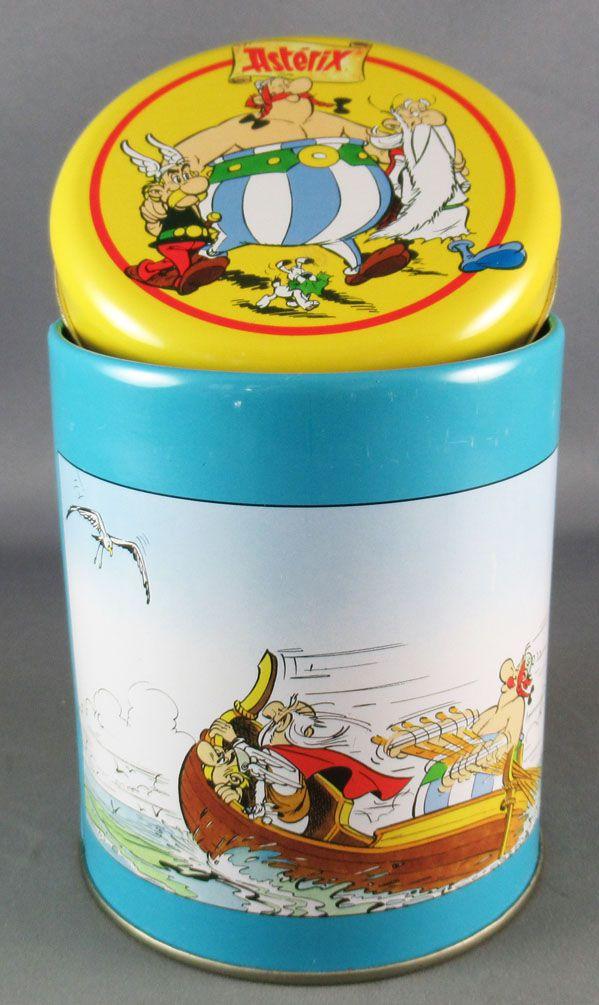 Asterix - Pandorino Cookies Tin Round box 40 Years 1999 - Pirates