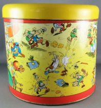 Asterix - Pandorino Cookies Tin Round box 40 Years 1999 - Romans