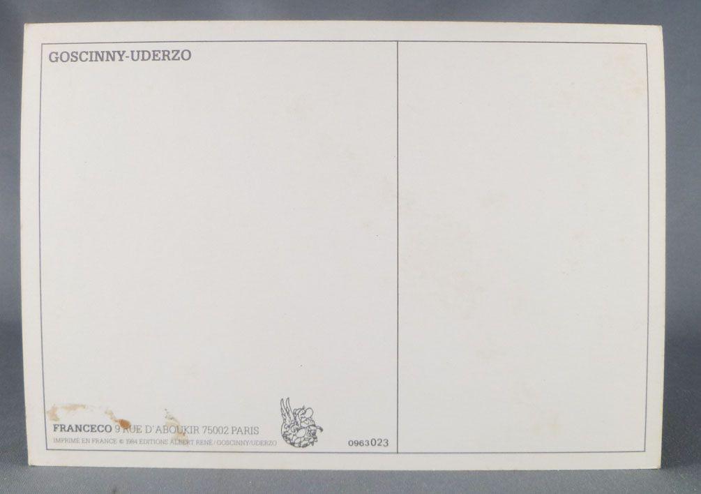 Asterix - Postal Card 1984 Franceco Albert René Goscinny Uderzo -  Saut (Jump)