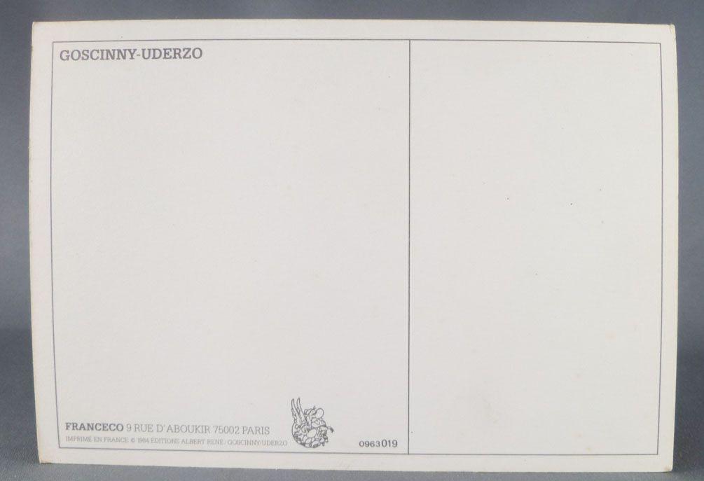 Asterix - Postal Card 1984 Franceco Albert René Goscinny Uderzo - Lancé (Throw)