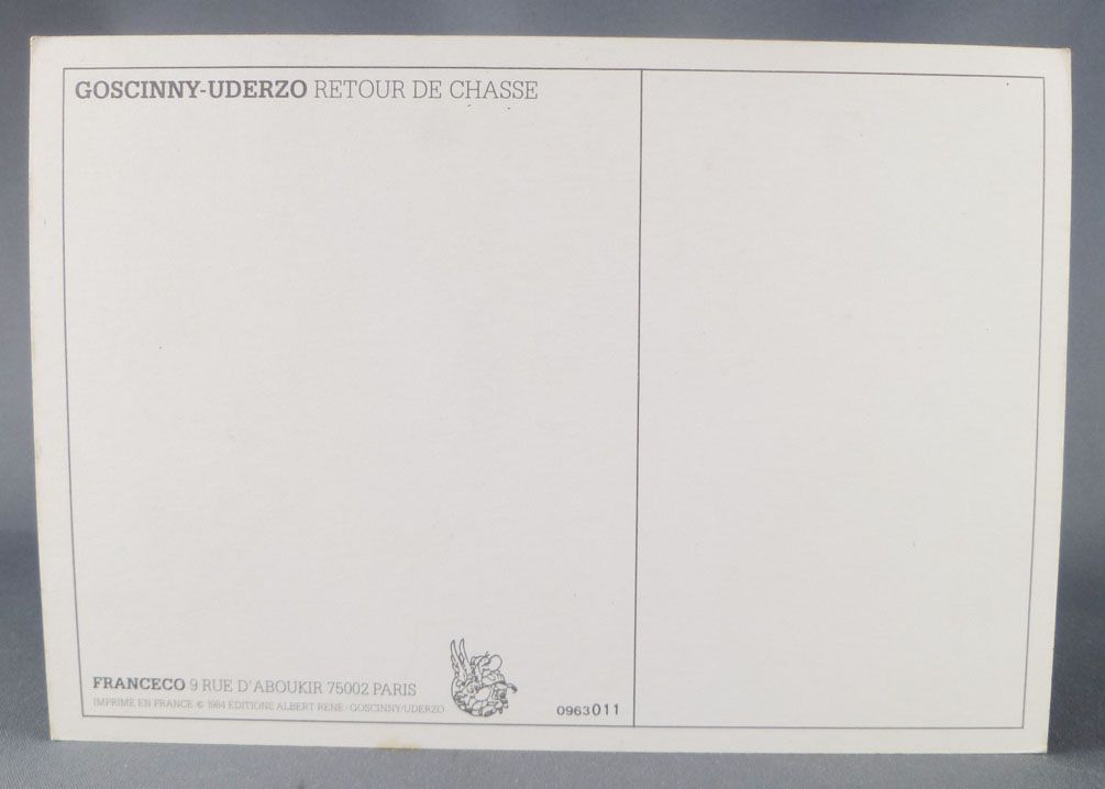 Asterix - Postal Card 1984 Franceco Albert René Goscinny Uderzo - Retour de chasse