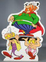 Asterix - Promotional Flat Plastic Figure Albert René 2000 - Majestix & Holders