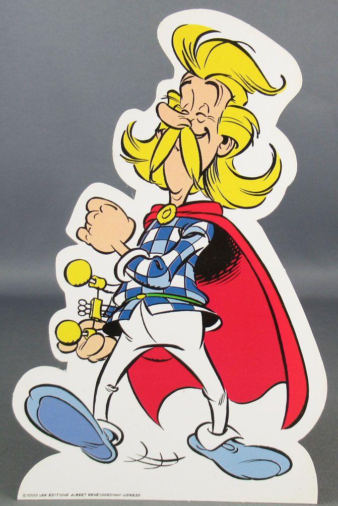Asterix - Promotional Flat Plastic Figure Albert René 2010 - Cacofonix