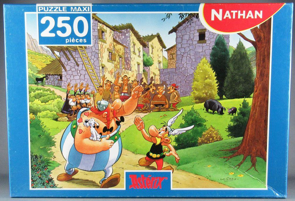 Asterix - Puzzle 250 pièces Nathan - Astérix en Corse L\'Adieu