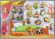"""Asterix - Série Complète 16 Pins \""""Les Gaulois\"""" sur Plaquette Présentation - Editions Atlas Collections 2006"""