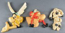 Asterix - Sinecure Rubber Flat Figures - Astérix Obélix Idefix
