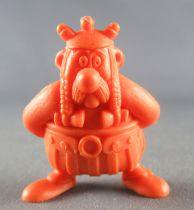Asterix - Uni Lever (Malabar/Motta) 1980-84 - Figurine Monochrome - Obelix Bras dans le dos (Orange)