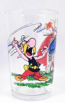 Asterix - Verre Amora 1968 - Asterix se bat contre un Centurion (casque vert)