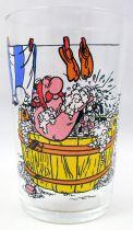 Asterix - Verre Amora 1968 - Obelix dans sa baignoire