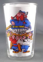 Asterix - Verre Amora Série avec © - Abraracourcix et ses porteurs