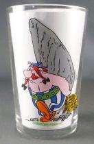 Asterix - Verre Amora Série sans ©  - Obelix menhir dans le dos