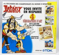 Astérix vous invite en Hispanie - Sérigraphie d\'Art Offre TDK 1999 - Astérix gagne la course