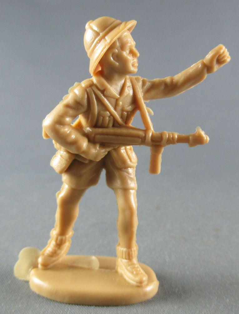 Atlantic 1/32 WW2 2108 Africa Corps Allemand Mitraillette en Bandoulière & Casque Colonial