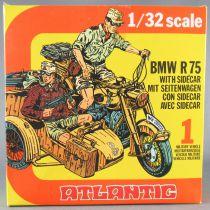 Atlantic 1/32 WW2 2151 Bmw R75 & Sidecar Moto Allemande Scwimmwagen Neuf Boite 1