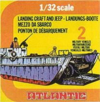 Atlantic 1:32 WW2 2158 Landing craft and jeep