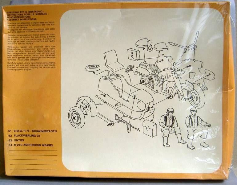 Atlantic 1:32 WW2 61 Motorcycle B.M.W. & Sidecar
