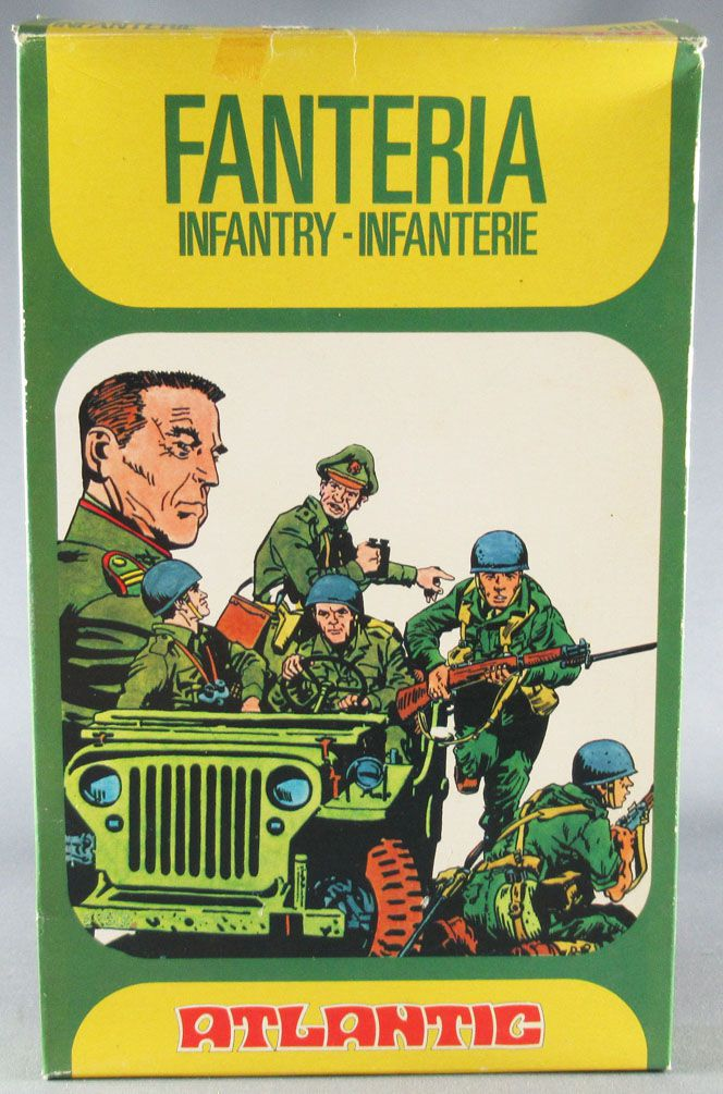 Atlantic 1:72 4101 Infantry with Jeep Mint in Box