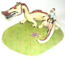 Atlas - Tomb Raider - 5\'\' statue - Lara Croft the Dagger of Xian , Lara vs. Dragon