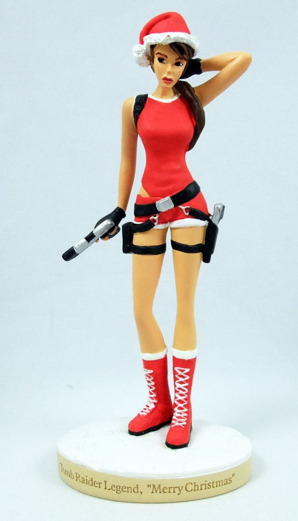 "Atlas - Tomb Raider - Statue 15cm  - Lara Croft - Tomb Raider Legend, \""Merry Christmas\"""