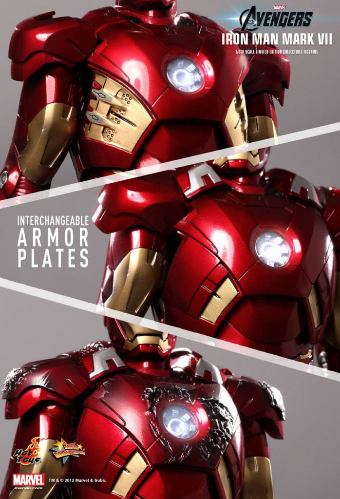 Hot Un Stock >> Avengers - Iron Man Mark VII - Figurine 30cm Hot Toys MMS 185