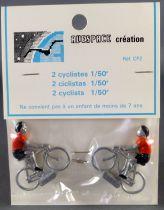 Avespace - 2 Cyclistes Métal Maillot Orange 1/50 Neuf Blister Blanc