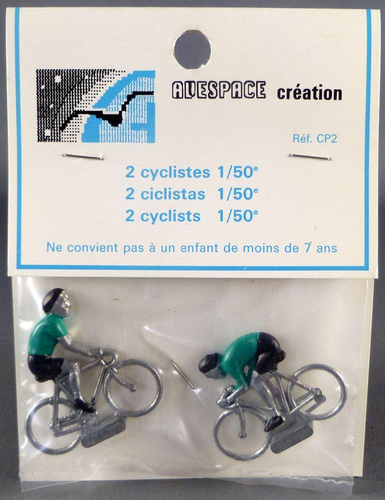 Avespace - 2 Cyclistes Métal Maillot Vert 1/50 Neuf Blister