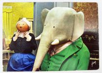 Babar - Editions Yvon - Carte Postale Babar in old lady\'s living room
