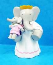 Babar - Figurine PVC Plastoy - Céleste (robe blanche) et Isabelle