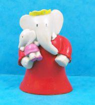 Babar - Figurine PVC Plastoy - Céleste (robe rouge) et Isabelle