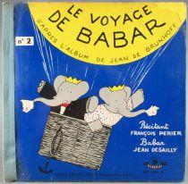 Babar - Livre- disque 45T Festival Alb 5001M -Le Voyage de Babar