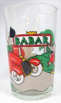 Babar - Verre à Moutarde Amora - La voiture rouge