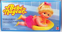 "Baby Kickie - 13\"" animated mechanical doll - Mattel 1984"