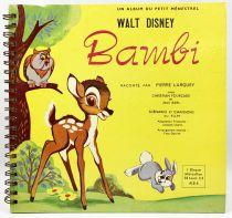 Bambi - Record-Book 45s Le Petit Ménestrel (1955) - Story told by François Périer